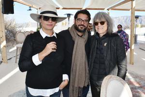 Pamela Echeverria, Rodrigo Lastra y Linda Yablonsky
