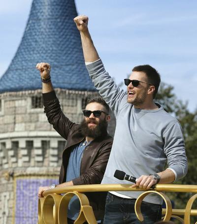 Tras ganar el Super Bowl, los Patriotas viajaron a Orlando para celebrar con la afición en el lugar más feliz del mundo.