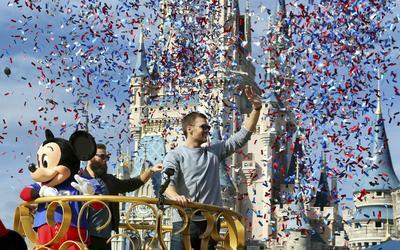 Los Patriotas celebraron su sexto campeonato en Disney World, en Orlando, Florida.