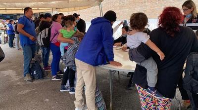 Los migrantes fueron registrados.