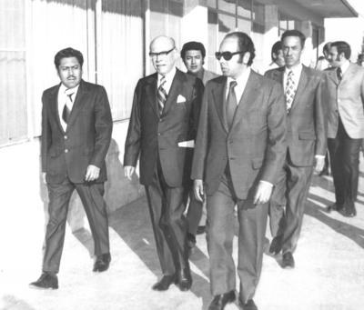 Don Nazario Ortiz Garza, José Solis Amaro, Mariano López Mercado y Jesús Reyes en 1973.