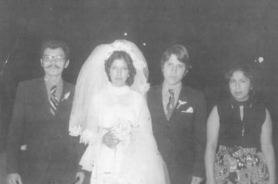 Rito Velázquez, Guillermina González (f), Flavio González y Conny Ramírez en 1962