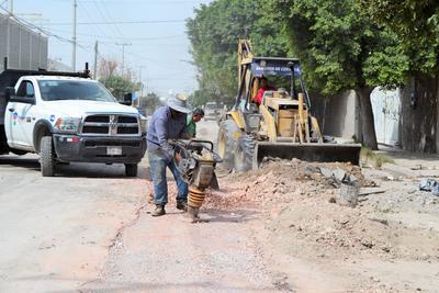 La avenida Carrillo Machado, de la colonia Las Luisas, estaba intransitable. Sin embargo, el pasado viernes, el Ayuntamiento comenzó con la reparación de la carpeta.