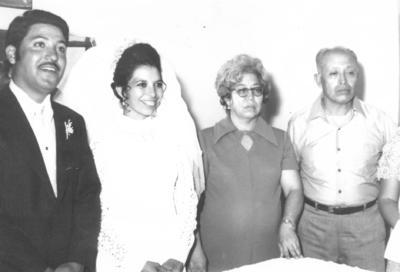 Ramón Pérez Rivera, Beatriz Aguirre Torres, Beatriz Pérez Aguirre y José Ramón Ocón Acosta en 1970.