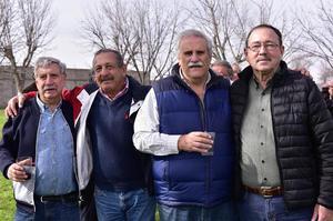 Carlos Baille, Jacobo Gidi, Adolfo Revueltas y Gerardo Diaz Flores