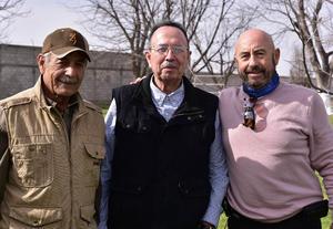 Gustavo Elizondo, Alejandro Diaz Flores y Juan Denigris