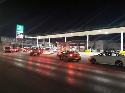 Así lució la gasolinera ubicada frente a la central camionera.