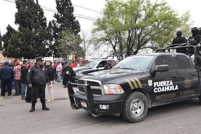Autoridades policiales se concentraron en el lugar de la marcha.