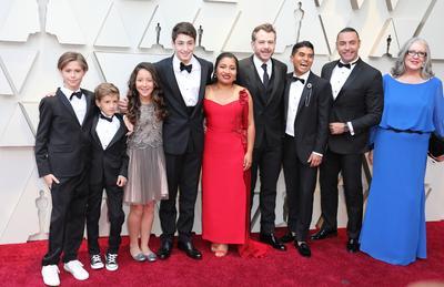 Miembros del elenco de la película Roma.