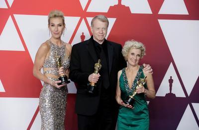 Greg Cannom, Kate Biscoe y Patricia Dehaney, ganadores de Mejor peluquería y maquillaje por Vice.