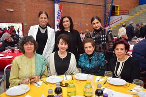 27022019 Regina Burillo, Yeye Romo, Carmelita Dueñes, Tere Rojas, Paty Villarreal, Cecy Ramírez y Minerva Asaf.