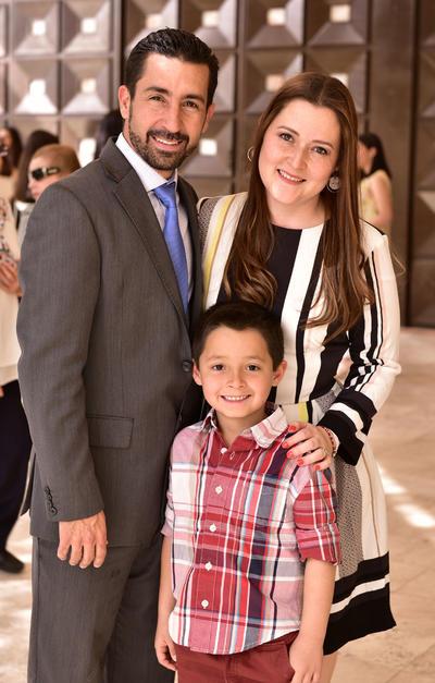 Luis Jorge Cuerda, Claudia y Mate Cuerda.