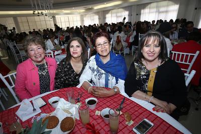 Mari Lechuga, Marta Chumaceros, Joselyn Meza y Rosy Favela.