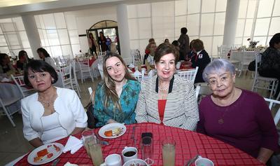 Mary Ramírez, Zoila Arellano, Ana Karem Bermúdez y Lilia Gómez.