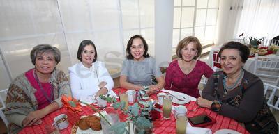 Anahí, Tere Carrillo de la Torre, Norma Muñoz, Yolanda Herrera y Diana Reyes.
