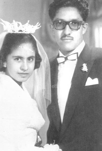 Ma. Petra Rosales y Jesús Ramírez el 28 de abril de 1958