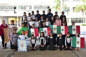 04032019 DíA DE LA BANDERA.  Alumnos de primaria del Instituto Británico de Torreón.