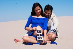 03032019 Karen Carus Álvarez y Roberto Ochoa Bujanda en la espera de su bebé, Roberto Ochoa Carus.- Luisa Olivares