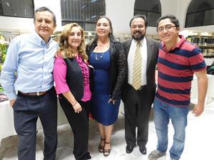 06032019 Ernesto Cano Ríos, Marychelo Narro Ramírez, Yadira Fernández Gutiérrez, Gustavo Arriaga Ramírez y Ricardo Cano Narro.
