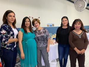 07032019 BABY SHOWER.  Isela Rodríguez acompañada de Vanessa, Nancy, Esther y Ángeles en su fiesta de canastilla, la cual le organizaron con motivo del nacimiento de Daniel.
