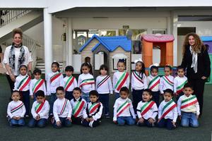 07032019 DíA DE LA BANDERA.  Alumnos de preescolar del Instituto Británico de Torreón.