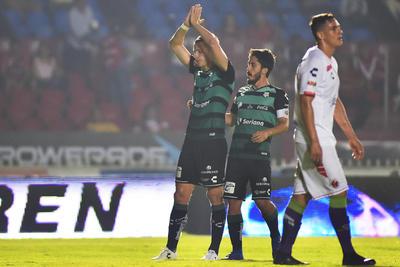 Furch festejando su gol ante Veracruz.