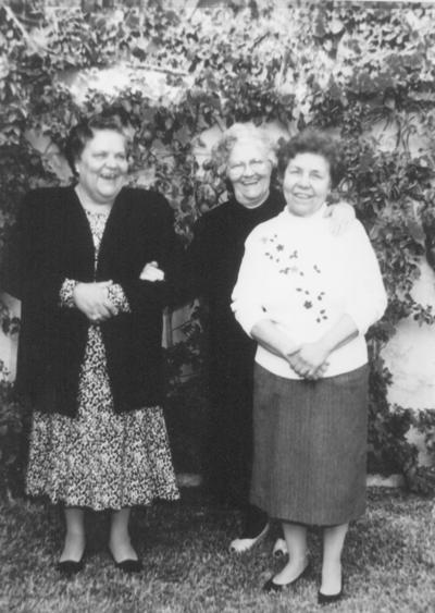 10032019 Hace dos décadas, las hermanas Domitila, Leonor y Juanita García.