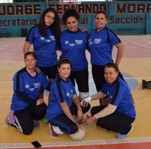 13032019 Rosy, Rocío, Isabel, Fernanda, Ilsse y Lupita, conforman el equipo de Educación Física.