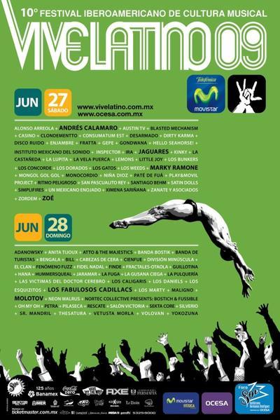 Estos son los 20 carteles en la historia del Vive Latino