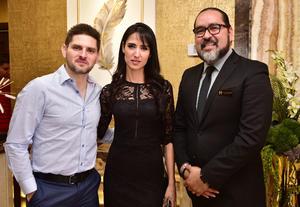 Victor Albores, Alejandra Salas y Fernando Orrante