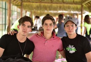 Emilio, Andres y Raul