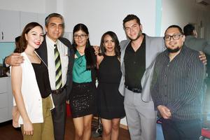 Cecilia, Jorge, Marifer, Michelle, Luis Mario y Jose Luis