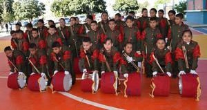 20032019 EN RECIENTE EVENTO.  Banda de Guerra de la Primaria Cuauhtémoc de Paso Nacional, del Municipio de Nazas, Durango.