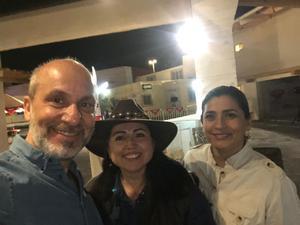21032019 EN RODEO SALTILLO EXPO & FEST 2019.  José Carlos Rioja, Cinthya Rodríguez y Alejandra Barajas, del Clúster Joyero de la Comarca Lagunera.
