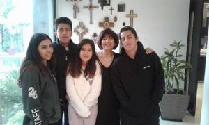 21032019 CELEBRA EN FAMILIA.  Chepis acompañada de sus nietos: Natalia, José Manuel, Valentina y Diego en su festejo de cumpleaños.