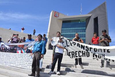 El movimiento pretendía entregar un pliego petitorio a las autoridades.