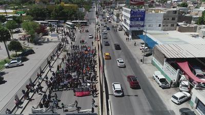 Circularon por calles principales de la ciudad.