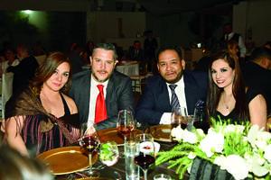 23032019 EN RECEPCIóN NUPCIAL.  Cory Huerta, Manuel Villegas, Roberto Job y Mayra Barba.