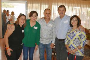 25032019 MUY CONTENTOS.  Lorena, Malena, Mauricio, Thomas y Verónica.