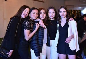 Paulina, Maryfer, Isabela, Daniela y Carlota