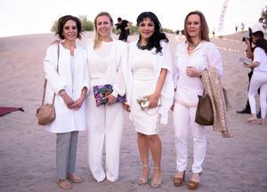 Monica Blake, Carmen Narro, Alma de Bernal e Isabel de Rebollar