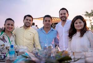 Nereyda Candia, Alejandro Blazco, Carlos Rodriguez, Rodrigo Valdes y Claudia Leza