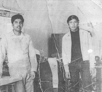 Fily López y Lino Salazar (f).