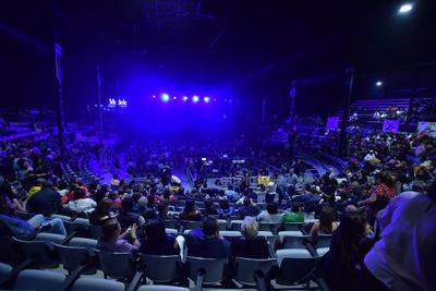 El renovado Poliforum de la Feria de Torreón fue el recinto que recibió en esta ocasión a 'La Leona Dormida'.
