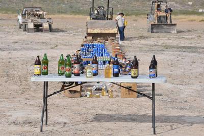También se incineraron 11 mil litros de alcohol y cantidades menores de clorhidrato de cocaína y heroína.