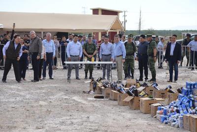 """""""El principal objetivo es evitar que estas drogas lleguen a la sociedad, principalmente a los Jóvenes coahuilenses"""" comentó el fiscal General, Gerardo Márquez."""