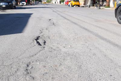 El pavimento de toda la calle está en mal estado. Son unas 9 cuadras que abarca la avenida del Bosque  y la carpeta presenta un gran número de baches.