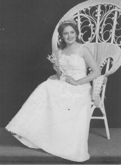 Agosto de 1978. Reina del Club Sertoma y Reina del Distrito Norte, Juana María Reyes Yassin.