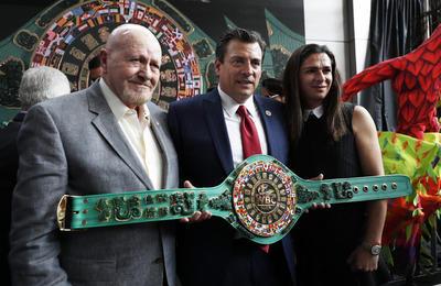 'Es un sueño que ahora se hace realidad. Este cinturón se une al huichol que estuvo en disputa en la pelea entre Gennady Golovkin y Saúl Álvarez', dijo Sulaiman.