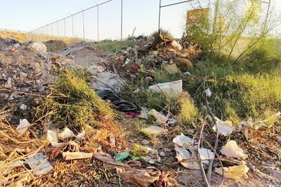 Lo que anteriormente se empleaba como un campo de futbol, hoy está repleto de escombro, ramas secas, basura y animales muertos.